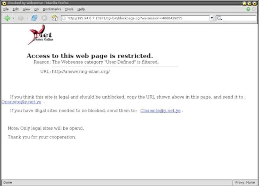 Middle east censors use western technologies to block viruses and figure 3 screenshot of the isp y blockpage ccuart Gallery